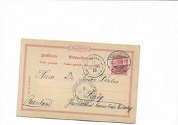 Karte Aus Königsberg Nach Kowno In Litauen 1901 - Covers & Documents