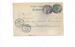 Karte Aus Friesenheim Nach Zürich 1890 - Covers & Documents