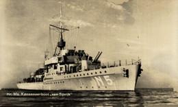 Hr Ms Kanonneerboot Van Speijk MILITARY SHIPS NAVIRES MILITAIRES BATEAUX BARCOS DE GUERRA WAR - Guerra