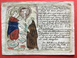 Image Pieuse - 18ième - GRAVURE Sign Heydreix - SAINT ANTOINE PADOU - ANTONIUS VAN PADUA - Devotieprenten