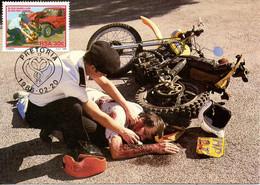 AFRIQUE DU SUD. N°602 De 1986 Sur Carte Maximum. Accident/Moto. - Accidentes Y Seguridad Vial