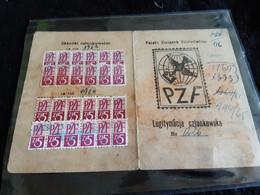 Carte De Membres De Société Philatélique Polonaise Avec Timbres De Cotisation 1961 - Documents Historiques