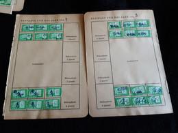 Document De La Vie Sociale Allemande Avec Avec Timbres - Documents Historiques