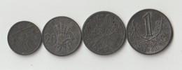 Böhmen & Mähren 10 Heller - 1 Krone 1941 - 1944 Zink - Tsjechoslowakije