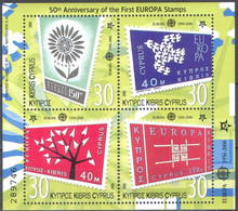 M3923 ✅ Europa CEPT Stamps On Stamps 2006 Cyprus S/s MNH ** 5ME - 2006