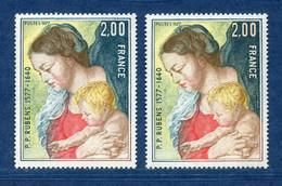 ⭐ France - Variété - YT N° 1958 - Couleurs - Pétouilles - Neuf Sans Charnière - 1977 ⭐ - Varieties: 1970-79 Mint/hinged
