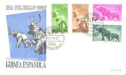 Spain:Guinea FDC, Elephants, 1957 - Guinea Espagnole