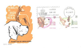 Spain:FDC, Dogs, 1983 - FDC