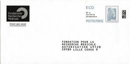 PAP Réponse  - Postreponse - Marianne L'engagée Eco - FRM Fondation Pour La Recherche Médicale 318062 - Prêts-à-poster:reply