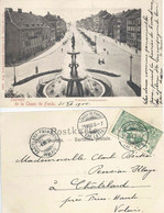 "AK  ""Chaux-de-Fonds - Fontaine Monumentale"" - Châtelard-Frontière  (UPU Frankatur)         1900 - Briefe U. Dokumente"