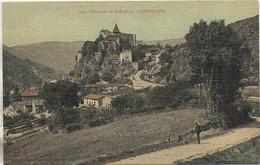 42 Environs De St-ETIENNE  CORNILLON  (carte Toilée) - Saint Etienne