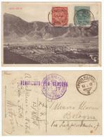 Italie Trentin Italia Regno Trentino 1918 Surcharge Timbre N°13 Cachet Militaire 14.12.18 Posta Militare Censura Censure - Trente