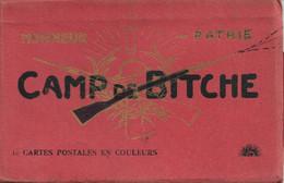 Carnet De 10 Cartes En Couleur Du Camp De Bitche - Cartes Neuves - Barracks