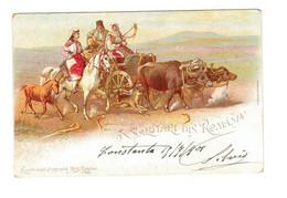 ROMANIA / ROUMANIE / SALUTARI DIN ROMANIA / TIMBRO DI CONSTANTA / OLD COLOUR LITHO / 1901 - Romania