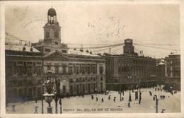 Spanje Spain Espana - Puerta Del SOl Dia De Nevada - Photocard Fotokaart -  1905 - Unclassified