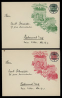 TREASURE HUNT [03249] Germany Lot Of 4 Early Germania Private Illustrated Postal Envelopes, Used In Dortmund, - Covers & Documents