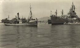 MALAGA Detalle Del Puerto Spain España Spagne Habour Por  MILITARY SHIPS NAVIRES MILITAIRES BATEAUX BARCOS DE GUERRA WAR - Guerra