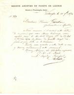 BOIS . S ANONYME DE FORETS EN LIGURIE . SCIERIE A VENTIMIGLIA . 1874 - Documents Historiques
