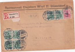 ALLEMAGNE 1911 LETTRE RECOMMANDEE DE DÜSSELDORF AVEC CACHET ARRIVEE COBURG - Covers & Documents