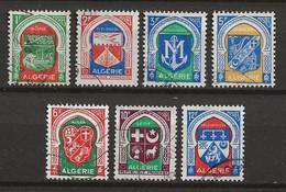 ALGERIE 1956/58 . Série N°s  337 à 337F . Oblitérés . - Used Stamps