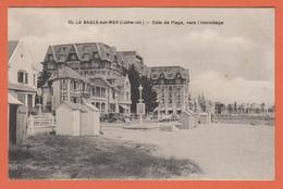 D44 - LA BAULE SUR MER - COIN DE PLAGE VERS L'HERMITAGE - Belles Villas - Cabinnes Sur La Plage -Véhicules Anciens - La Baule-Escoublac