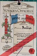 LAISSER-PASSER Du MINISTERE De L' INTERIEUR - DIRECTION De La SURETE - VISITE à MARSEILLE PRESIDENT De La REPUBLIQUE - Documents Historiques