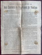 Elections Législatives Du 4 Octobre 1885.  Aux électeurs Du Vaucluse. Eugène Fortunet, Ancien Maire De Carpentras, Etc. - Documents Historiques