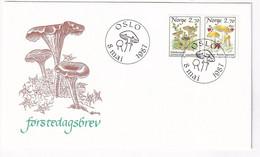 Norway, Mushrooms, First Day Cover Used, - Paddestoelen