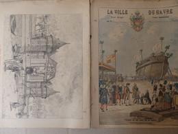 """Protège Cahier La Ville Du Havre (76) """"Passage Du Roi Louis XVI Au Havre"""" Signé G. Dascher Illustrateur. - Unclassified"""