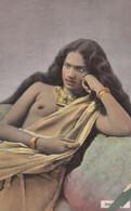 Rangoon Indian Lady Innocence WW1 Old Glamour Beauty Postcard - India