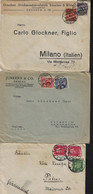 GERMANY 1923-27, 3 COVERS (2 TO ITALY AND 1 TO GREECE). - Covers & Documents
