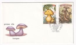 Nicaragua, Mushrooms, First Day Cover Used, - Paddestoelen