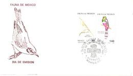 Mexico:FDC, Mexico Fauna, Birds, 30.05.1981 - Mexiko
