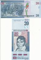 Guatemala - 20 Quetzales 2021 UNC 200 Years Independence Comm. Lemberg-Zp - Guatemala