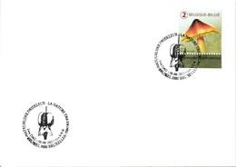Belgium 2021 FDC, Tricolour In Nature, Meersman, Mushroom, Waxcap Hygrocybe Acutoconica Hygrophore Pointu - Paddestoelen