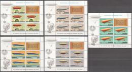 CC201 SILVER PENRHYN COOK ISLANDS AVIATION AIRSHIPS ZEPPELINS 5KB MNH - Zeppelins