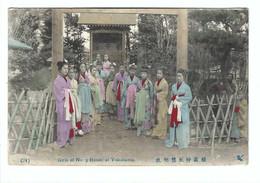 (94)  Girls Of No 9  House At Yokohama 1907 - Yokohama