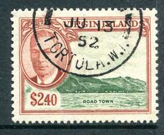 British Virgin Islands 1952 KGVI Pictorials - $2.40 Road Town Used (SG 146) - British Virgin Islands