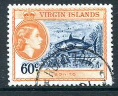 British Virgin Islands 1956-62 QEII Pictorials - 60c Skipjack Tuna Used (SG 158) - British Virgin Islands
