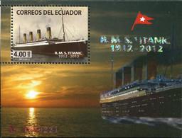 Ref. 622576 * NEW *  - ECUADOR . 2012. HUNDREDTH ANNIVERSARY OF THE WRECK OF THE TITANIC. CENTENARIO DEL NAUFRAGIO DEL - Ecuador