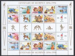 Z603 ONLY ONE IN STOCK 1996 MONGOLIA SPORT CENTENARY OF OLYMPICS OLYMPIC GAMES ATLANTA 96 1SH MNH - Zomer 1996: Atlanta