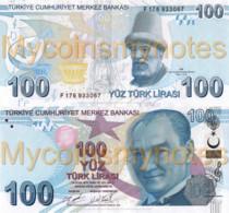 TURKEY, 100 Turkish Lira, 2021, PNew (Not Yet In Catalog), New Signature, Series F, UNC - Turkey