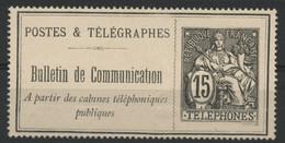 Timbre Téléphone N° 23 COTE 130 € Neuf. Vendu à 10% De La Cote Voir Description - Telegraphie Und Telefon