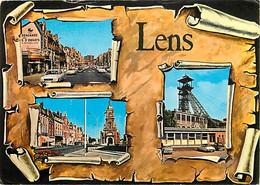 62 - Lens - Multivues - Automobiles - Chevalet Mines - 2CV DS - CPM - Voir Scans Recto-Verso - Lens