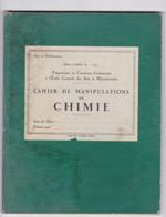 Ancien Cahier De Manipulations De Chimie, Ecole Centrale Des Arts Et Manufactures, - Altri
