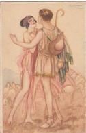 CPA   COUPLE  Illustrateur Signé MAUZAN - Mauzan, L.A.
