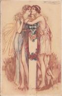 CPA   COUPLE  Illustrateur Signé MAUZAN   Style Antique - Mauzan, L.A.