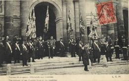 Militaria Patriotique Remise Dedrapeaux Allemands Aux Invalides RV - Patriotic