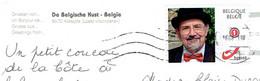 Timbre Personnalisé (Mystamp) Sur CP De Coxyde Vers La Louvière (18/8/21) - Timbres Personnalisés
