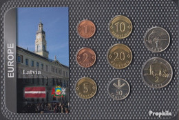 Lettland Stgl./unzirkuliert Kursmünzen Stgl./unzirkuliert Ab 1992 1 Santimu Bis 2 Lati - Latvia